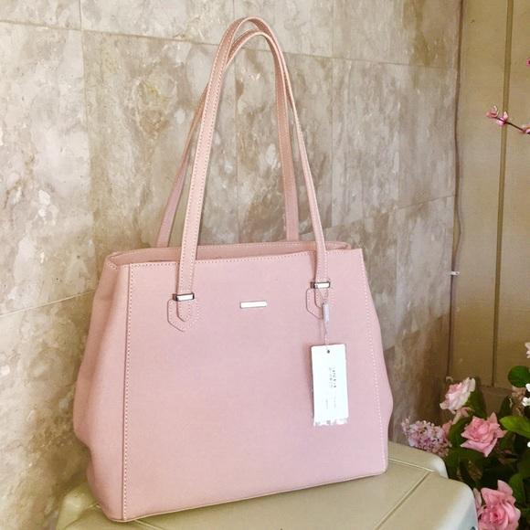 8f73f39d73fa DAVID JONES PARIS Bags | Blush Pink Tote | Poshmark